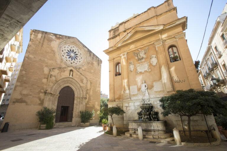 Trapani - Saint Augustine Church and Fountain of Saturn