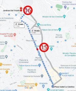 Granada - From Gran Vía de Colón Street to Triumph Gardens