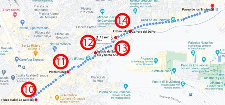 Granada - Paseo de Los Tristes District