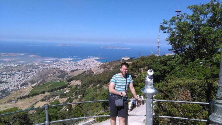 Erice - Balio - View on Trapani