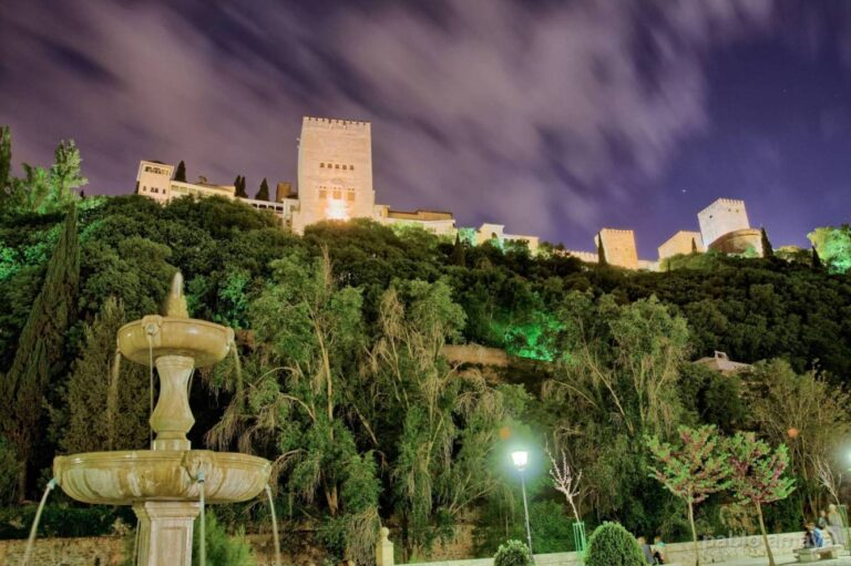 Granada - View of the Alhambra from Paseo de Los Tristes by Pablo Amaya Barbosa