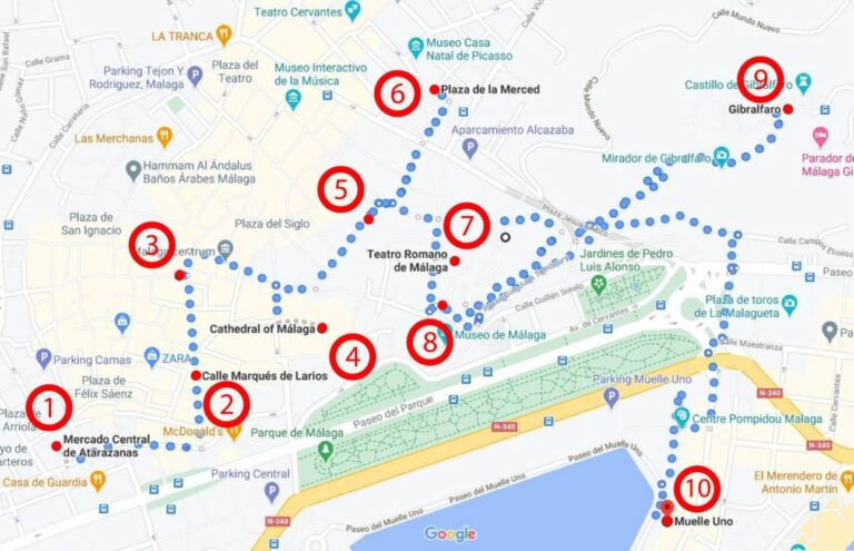 How to get the most of Malaga - City Map