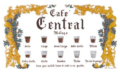 How to get the most of Malaga - 10 different ways to drink coffee at Café Central by Café Central