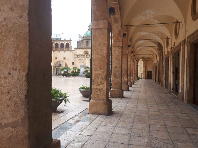 Mazara del Vallo - Arched Portico in Piazza della Repubblica