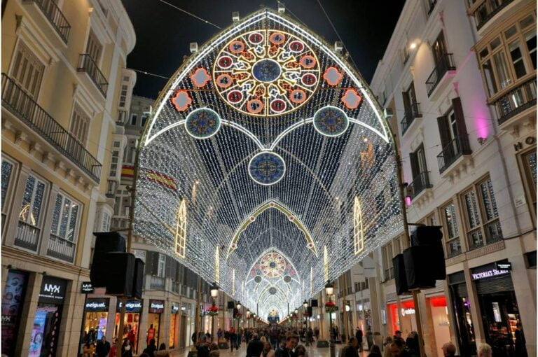 How to get the most of Malaga - Marqués de Larios Street at Christmas