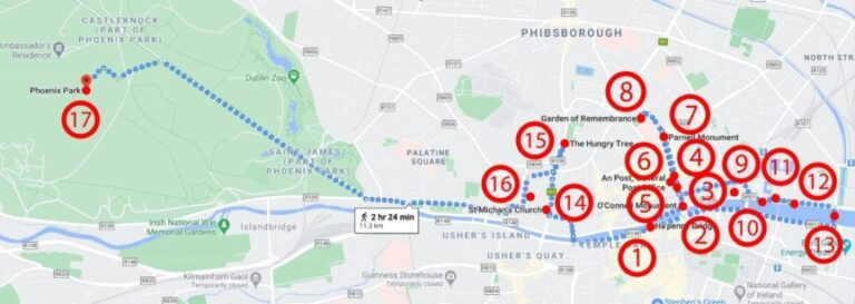 A two-day adventure in Dublin - Map day 2