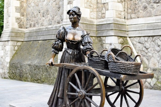 A two-day adventure in Dublin - Molly Malone Statue