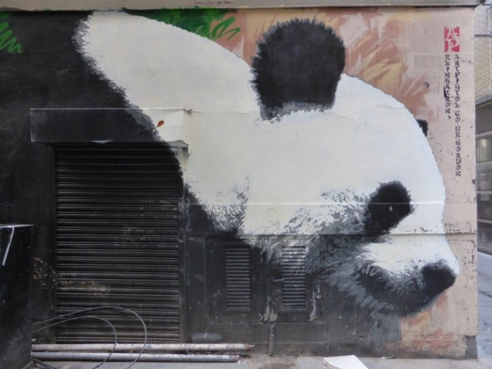 One day in Glasgow itinerary - Glasgow Panda Mural by duncan c