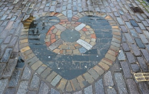 Edinburgh in 2 days - Heart of Midlothian Mosaic by Mike McBey
