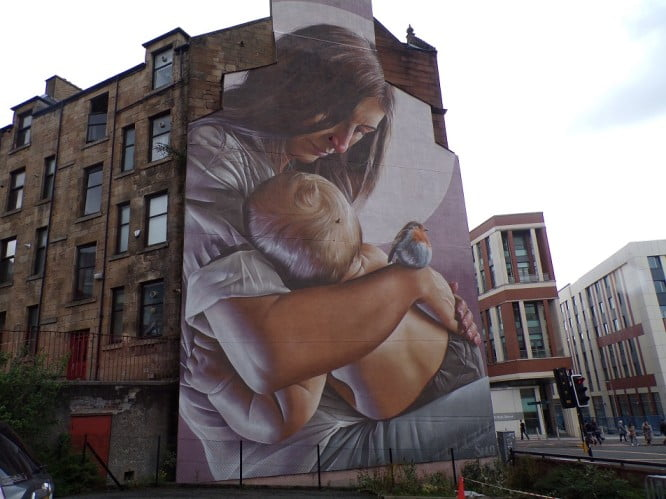 One day in Glasgow itinerary - St Enoch and St Mungo Child Mural by scottishhousingnews.com
