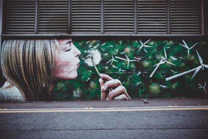One day in Glasgow itinerary - Wind Power Mural