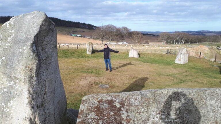 Scotland and Scottish Highlands - Easter Arquhorhies Stone Circle