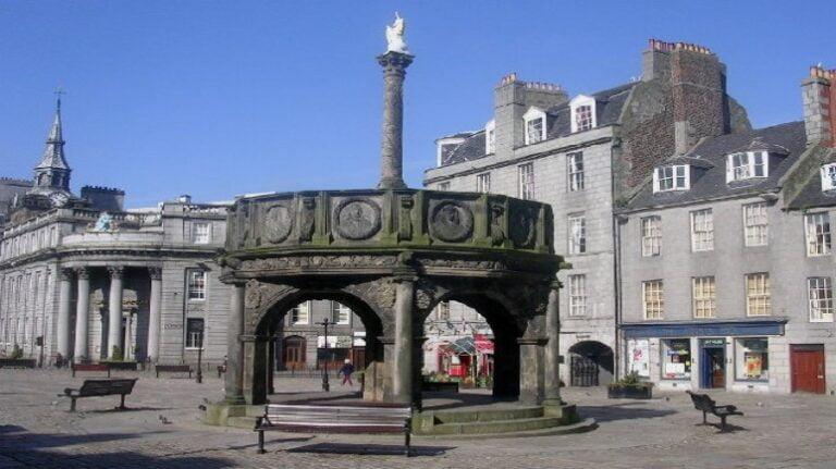 Scotland and Scottish Highlands - Aberdeen - Mercat Cross by Richard Slessor