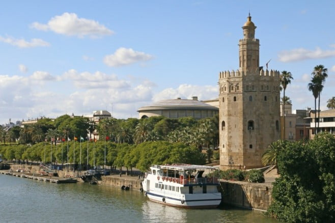 50 things to visit in Seville, Spain - Tower of Gold