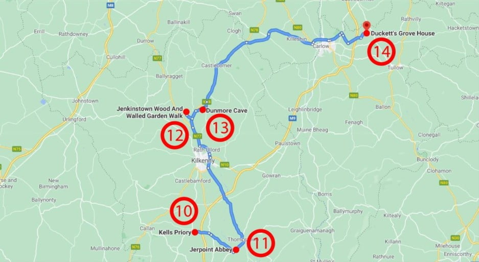 A lovely weekend in Kilkenny, Ireland - Map Day 2