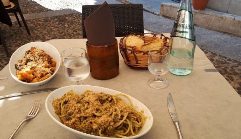 Monreale - Pasta alla Norma and Pasta con le sarde