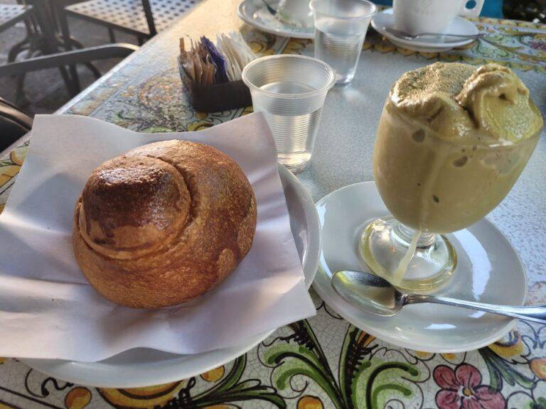 "An unforgettable 2-week road trip through Sicily - Catania - Granita and ""brioscia cu tuppu"" at Spinella"