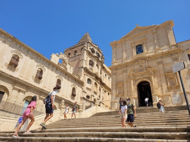 Noto - Church of St Francis to the Immaculate and Franciscan Monastery of the St. Savior