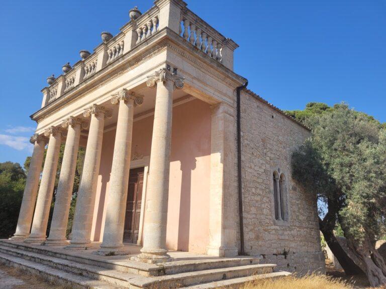 Donnafuga Castle - Temple/Church in the gardens