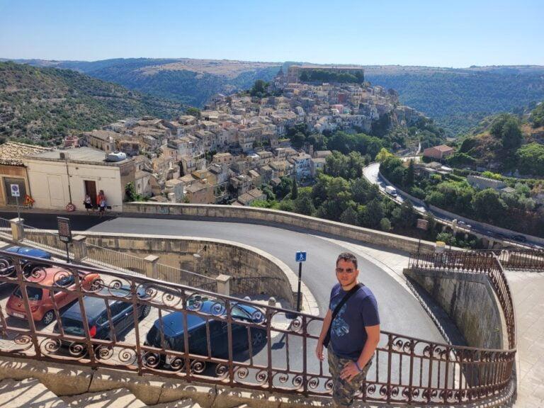 Ragusa - View over Ragusa Ibla from Ragusa Superiore