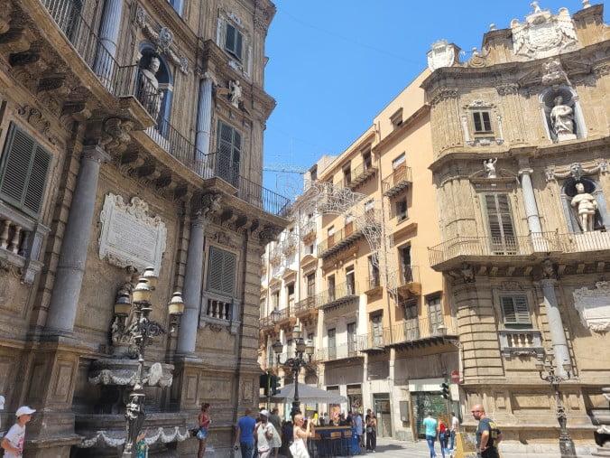 An unforgettable 2-week road trip through Sicily (part 2) - Palermo - Quattro Canti