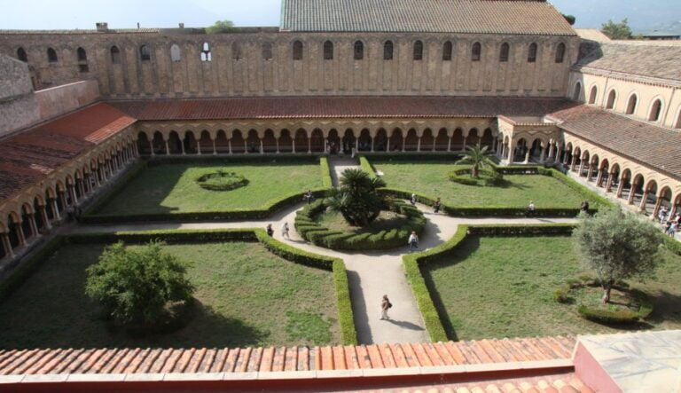 Monreale - Cloister of the Cathedral by Terry Feuerborn