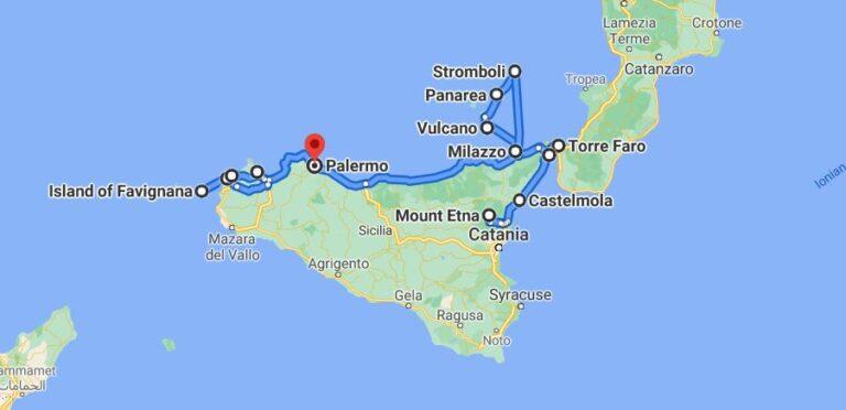 An unforgettable 2-week road trip through Sicily (part 2) - Week 2 Map