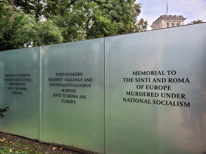 Two outstanding days in Berlin - Memorial to the Roma and Sinti of Europe murdered under National Socialism