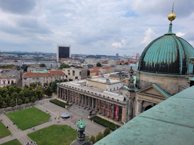 Berlin - View over the Lustgarten and the Atles Museum from the Cathedral Dome