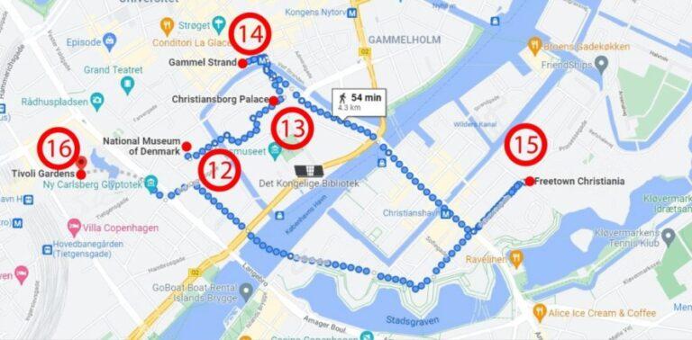 Two enchanting days in Copenhagen - Map Day 2
