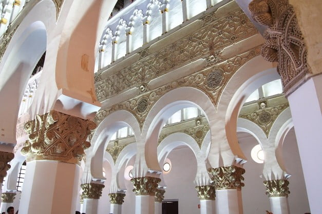Toledo - Synagogue of St Mary the White by DavidMP