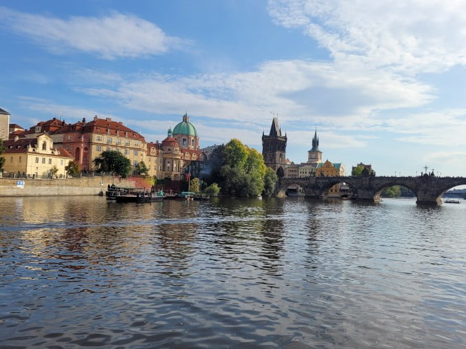 Prague - Charles Bridge view from the river