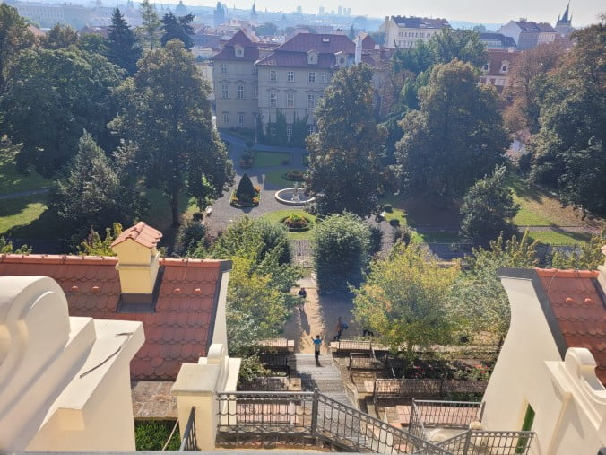 Prague in 3 marvellous days - View over Fürstenberg Garden